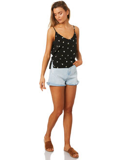 DITSY DAISY PRINT WOMENS CLOTHING ALL ABOUT EVE FASHION TOPS - 6405087PRNT