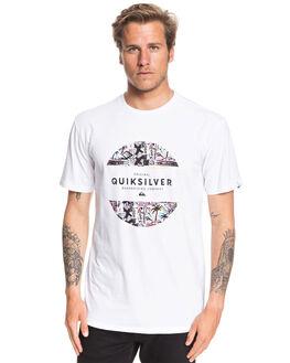 WHITE MENS CLOTHING QUIKSILVER TEES - EQYZT05664-WBB0