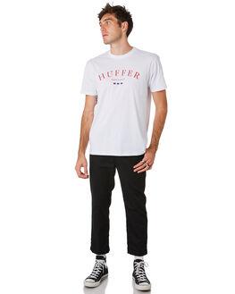 WHITE MENS CLOTHING HUFFER TEES - MTE93S40151WHT