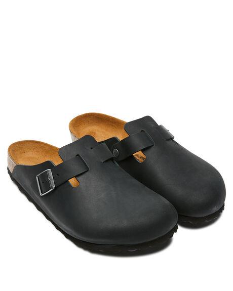 BLACK MENS FOOTWEAR BIRKENSTOCK SLIDES - 059461BLK