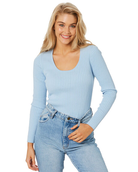 SKY BLUE WOMENS CLOTHING ROLLAS KNITS + CARDIGANS - 139112368