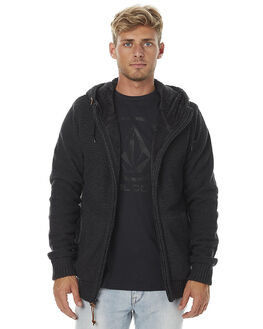 HEATHER BLACK MENS CLOTHING VOLCOM JUMPERS - A0731605HBK