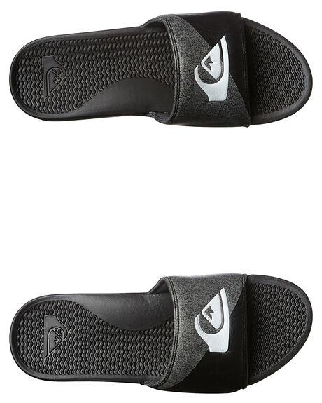 Quiksilver Shoreline Print Slide - Black Grey Black   SurfStitch