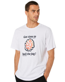 WASHED WHITE MENS CLOTHING MISFIT TEES - MT005005WSHWT