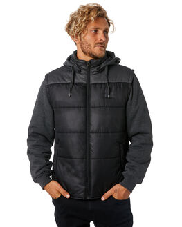 BLACK MENS CLOTHING RIP CURL JACKETS - CJKEJ10090