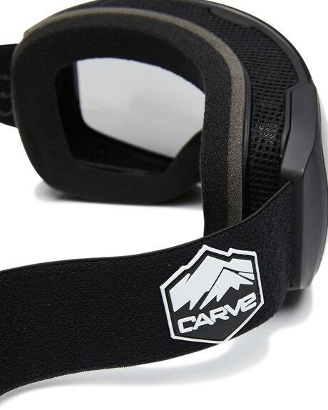 BLACK GREY ORANGE BOARDSPORTS SNOW CARVE GOGGLES - 6172BGORG