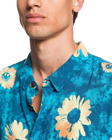 BLUE DAISY SPRAY MENS CLOTHING QUIKSILVER SHIRTS - EQYWT03958-BSM6