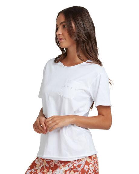 BRIGHT WHITE WOMENS CLOTHING ROXY TEES - URJZT03636-WBB0