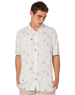 SEASIDE WHITE MENS CLOTHING BARNEY COOLS SHIRTS - 300-CR4SEASD