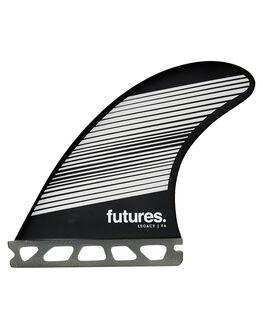 GREY BLACK BOARDSPORTS SURF FUTURE FINS FINS - 1165-160-50GRYBK