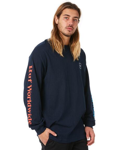 NAVY MENS CLOTHING HUF TEES - HUF-TS00304-NVY