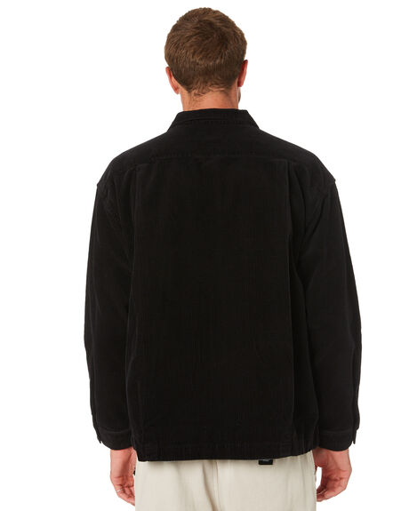 BLACK MENS CLOTHING OBEY JACKETS - 121160023BLK