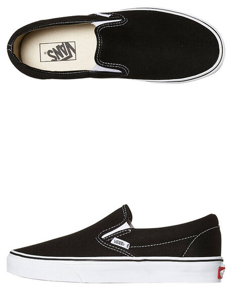 BLACK MENS FOOTWEAR VANS SLIP ONS - SSVN-0EYEBLKM
