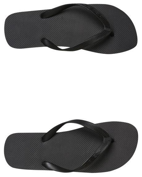 BLACK MENS FOOTWEAR CARVE THONGS - CVS1509BLK