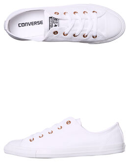 WHITE WOMENS FOOTWEAR CONVERSE SNEAKERS - 557969WHITE