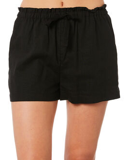 WASHED BLACK WOMENS CLOTHING RIP CURL SHORTS - GWAEI18264