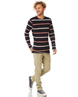 DIRTY BLACK MENS CLOTHING BANKS TEES - WLTS0039DBL