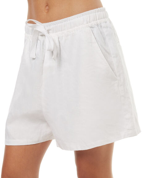WHITE WOMENS CLOTHING ASSEMBLY SHORTS - AS-SW1681WHI