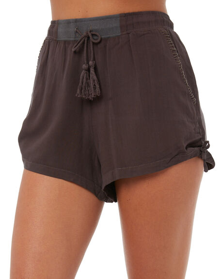 CHARCOAL WOMENS CLOTHING THE HIDDEN WAY SHORTS - H8171238CHAR