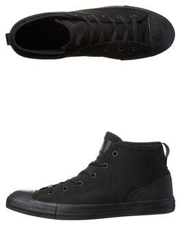 BLACK BLACK MENS FOOTWEAR CONVERSE SNEAKERS - SS155489BLKM