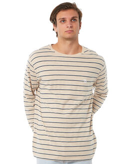 BEIGE STRIPE MENS CLOTHING BARNEY COOLS TEES - 142-CR1BSTRP