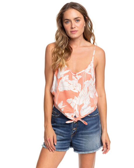 TERRA COTTA WOMENS CLOTHING ROXY FASHION TOPS - ERJWT03372-XMWW