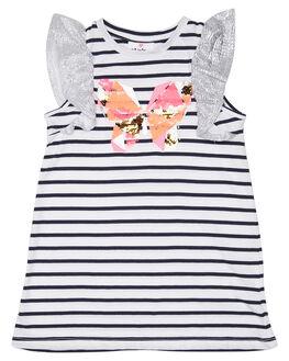 NAVY WHITE STRIPE KIDS GIRLS EVES SISTER DRESSES + PLAYSUITS - 8021063STR