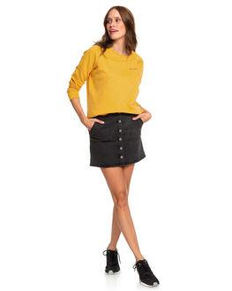 GOLDEN GLOW HEATHER WOMENS CLOTHING ROXY JUMPERS - ERJFT04066-YKSH