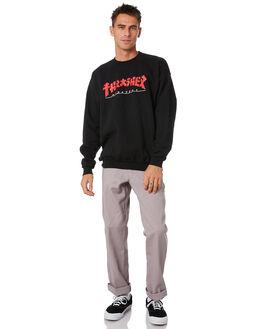 BLACK MENS CLOTHING THRASHER JUMPERS - 20265705BLK
