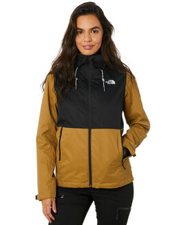 BRITISH KHAKI BLACK WOMENS CLOTHING THE NORTH FACE JACKETS - NF0A3OC4E0T