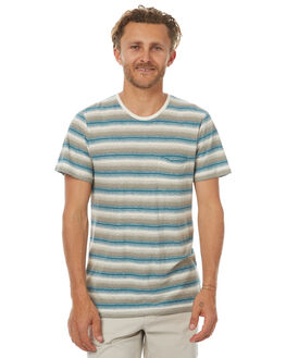 LAGOON STRIPE MENS CLOTHING OUTERKNOWN TEES - 1210036LWS