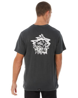 MERCH BLACK MENS CLOTHING THRILLS TEES - TW8-115MBMBLK