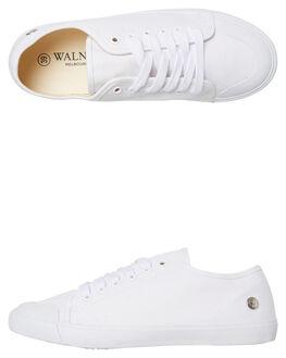 WHITE WOMENS FOOTWEAR WALNUT SNEAKERS - EMPIREWHT