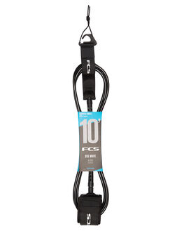 BLACK BOARDSPORTS SURF FCS LEASHES - 2021-BLK-10FBLK