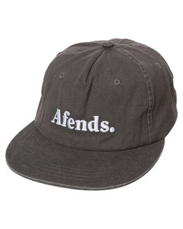 WASHED GREY MENS ACCESSORIES AFENDS HEADWEAR - 13-07-022WGRY