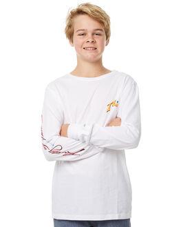 WHITE KIDS BOYS RUSTY TEES - TTB0542WHT