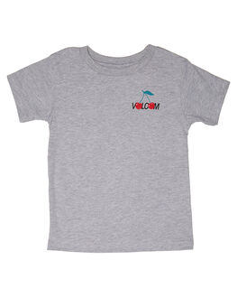 HEATHER GREY KIDS TODDLER GIRLS VOLCOM TEES - B35218L1HGR