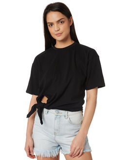 BLACK WOMENS CLOTHING SILENT THEORY TEES - 6022030BLK