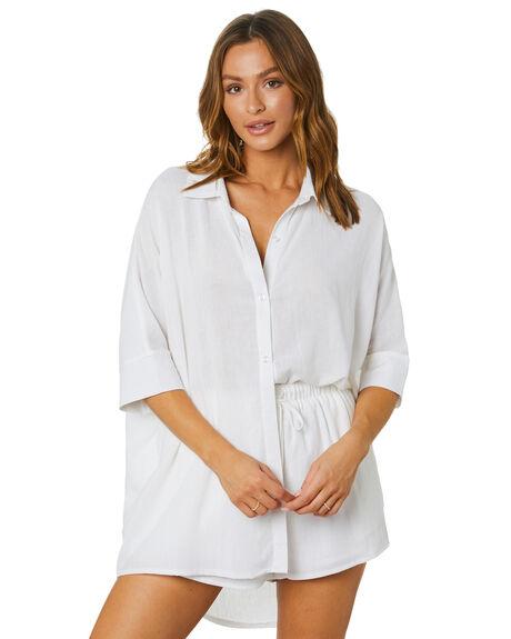 WHITE WOMENS CLOTHING SNDYS FASHION TOPS - SET202WHT