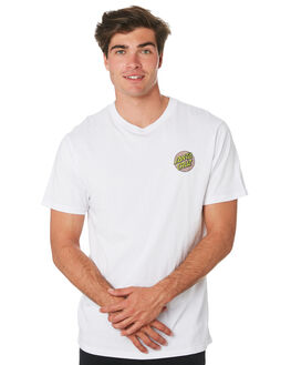 WHITE MENS CLOTHING SANTA CRUZ TEES - SC-MTC9265WHT