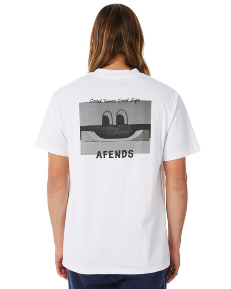 WHITE MENS CLOTHING AFENDS TEES - M183025WHT