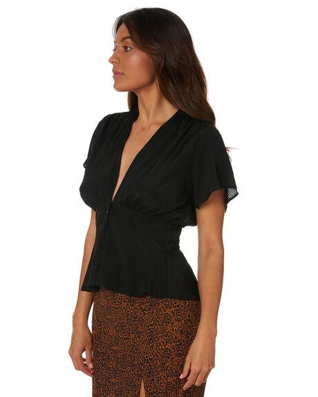 BLACK WOMENS CLOTHING RUE STIIC FASHION TOPS - AS-20-27-2-B4-FFBLK