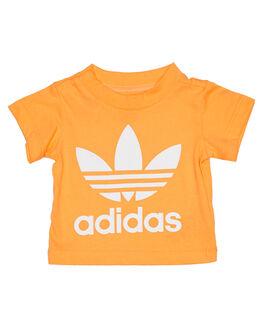 GOLD WHITE KIDS BABY ADIDAS CLOTHING - ED7666GLDWT