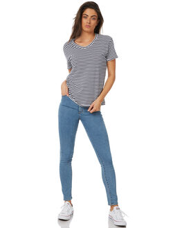 NAVY STRIPE WOMENS CLOTHING SWELL TEES - S8183004NVYWH