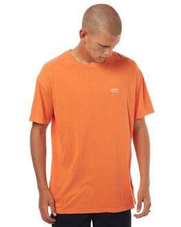 BOMBER ORANGE MENS CLOTHING STUSSY TEES - ST071000BORNG