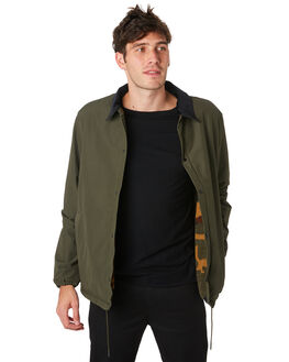 DARK OLIVE MENS CLOTHING HERSCHEL SUPPLY CO JACKETS - 50048-00442DKOLV