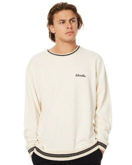 NATURAL MENS CLOTHING AFENDS JUMPERS - 06-03-073NAT