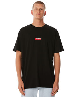 ROOTS BLACK MENS CLOTHING STUSSY TEES - ST073015RBLK