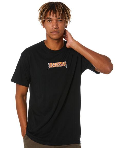 BLACK MENS CLOTHING RUSTY TEES - TTM2539BLK