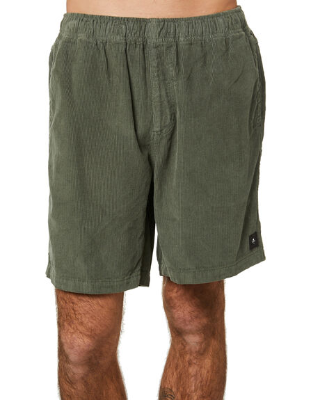 LUME GREEN MENS CLOTHING THRILLS SHORTS - TH21-310FLMGRN